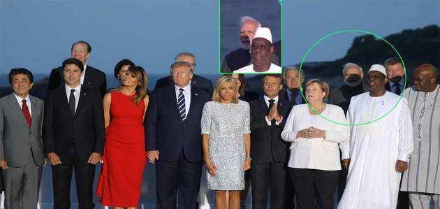 फ्रांस: G7 सम्मेलन में ग्रुप फोटो के लिए सभी लीडर्स से मिले पीएम मोदी