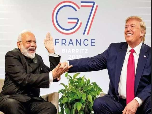 अमेरिकी राष्ट्रपति ट्रंप से मुलाकात के दौरान पीएम मोदी
