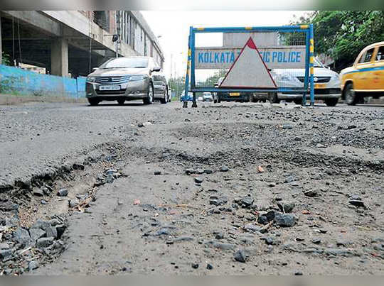 Police worried for poor condition of road, writes to KMC