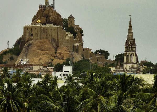 रॉक फोर्ट उच्ची पिल्लयार मंदिर, तमिलनाडु