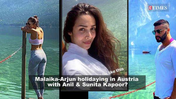 malaika arora and arjun kapoor chilling with anil kapoor and sunita kapoor in austria