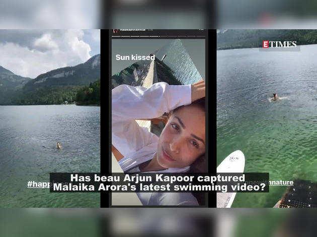 वायरल हो रहा है मलाइका का स्वीमिंग विडियो