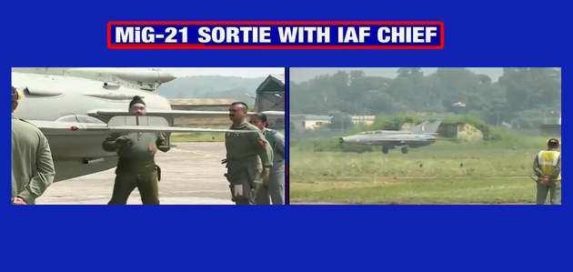 एयरफोर्स चीफ ने विंग कमांडर अभिनंदन वर्तमान के साथ उड़ाया मिग- 21