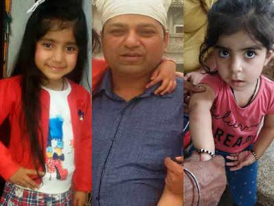 मृतक मान्या, केवल कुमार और बाल-बाल बची बेटी मायरा (बाएं से दाएं)