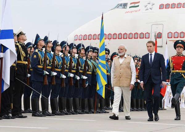 रूस में PM का जोरदार स्वागत