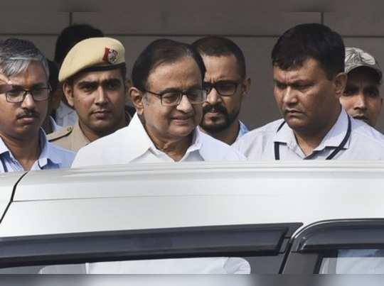 New Delhi: Congress leader and former finance minister P Chidambaram after being...