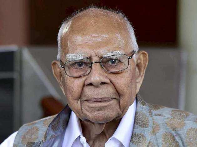 मशहूर वकील राम जेठमलानी का निधन।