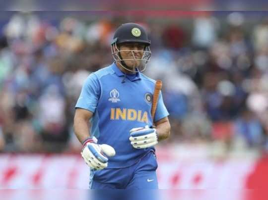 Manchester: Indias MS Dhoni reacts as he leaves the field after being dismissed...