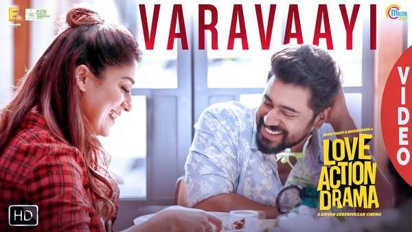 nivin pauly nayanthara starrer love action drama movie song varavaayi video