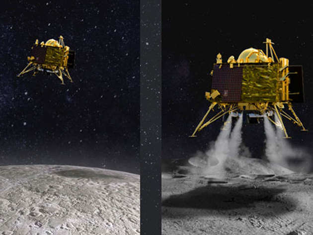 चांद पर लैंडर विक्रम ने की थी हार्ड लैंडिंग (सांकेतिक तस्वीर)