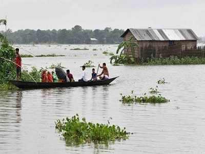 प्रयागराज में बाढ़ की स्थितियां (फाइल फोटो)
