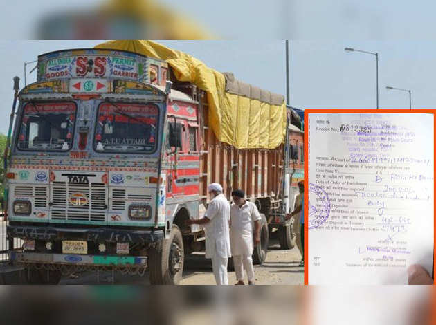 नया मोटर वाहन कानून: ट्रक मालिक का कटा 2 लाख रुपये का चालान