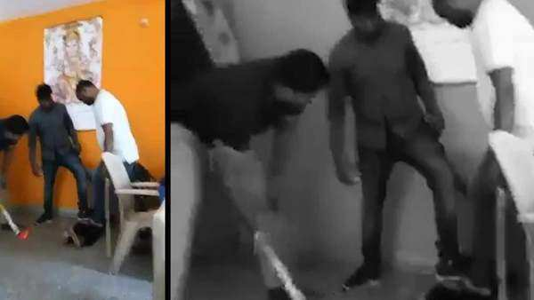 viral video cop thrashes man accused of sexual harassment