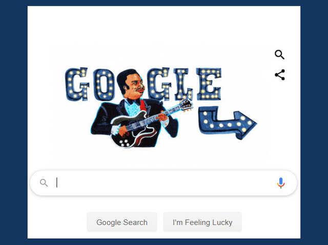 Google Doodle में आज मशहूर गिटारिस्ट BB King, 15 बार जीता है ग्रैमी