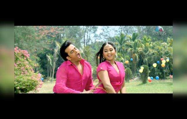 देखिए, काजल राघवानी और रवि किशन का रोमांटिक भोजपुरी गाना 'पहिला थापड़ बुलकिया वाली से'