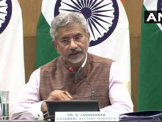 प्रेस कॉन्फ्रेंस में विदेश मंत्री एस. जयशंकर