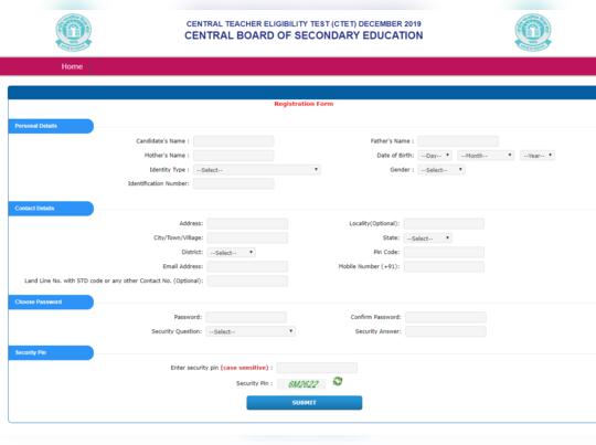 ctet registration last date 2019