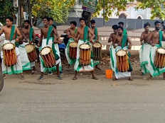 alappuzha percussion group performs shinkari melam to help raise fund for liver surgery of student