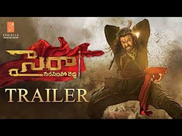 megastar chiranjeevi sye raa narasimha reddy trailer released