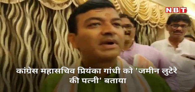 योगी के मंत्री ने प्रियंका पर की टिप्पणी, कहा-जमीन लुटेरे की पत्नी