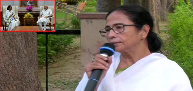पश्चिम बंगाल की मुख्यमंत्री ममता बनर्जी ने की नरेंद्र मोदी से मुलाकात, कहा- एनआरसी पर चर्चा नहीं