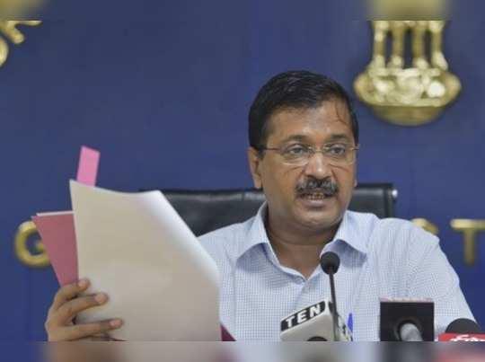 New Delhi: Delhi Chief Minister Arvind Kejriwal during a press conference at Del...