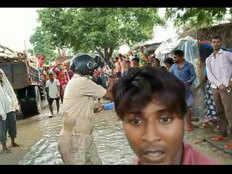 गाजीपुर: बिना हेल्मेट देख मोटरसाइकल सवार को रोका, पुलिसकर्मी की हुई जमकर पिटाई