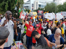 protests outside howdy modi in houston with go back modi slogans