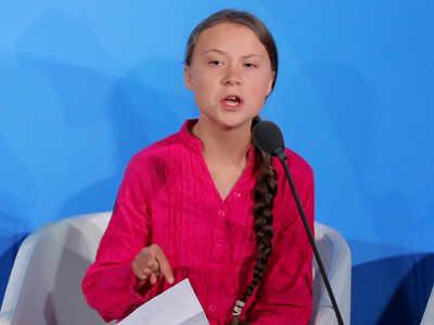 संयुक्त राष्ट्र जलवायु सम्मेलन में ग्रेटा थनबर्ग