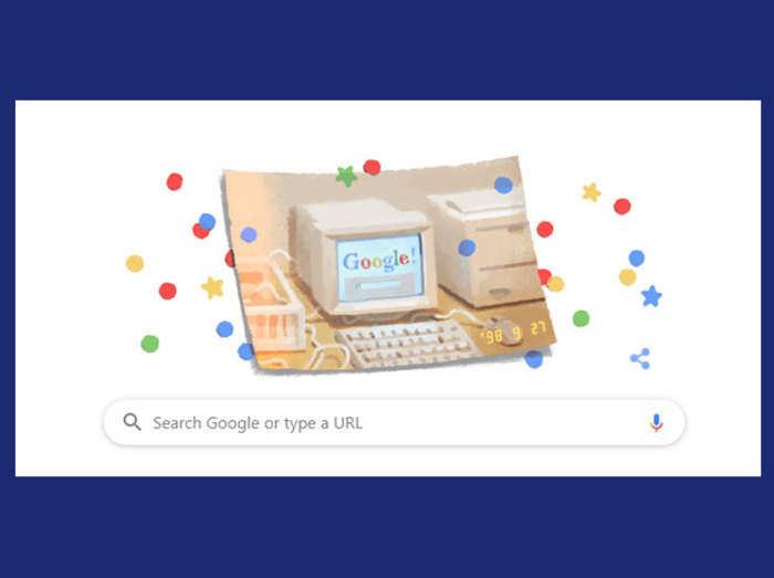 Google का 21वां हैप्पी बर्थडे आज, बनाया खास Doodle