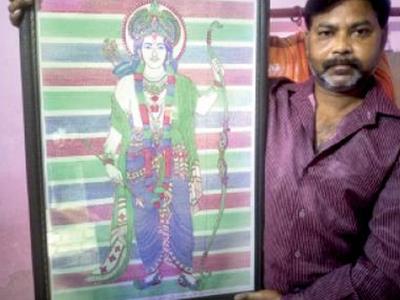 राम की छवि के साथ सुधीर