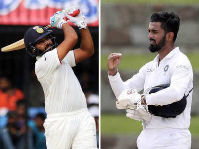 रोहित शर्मा और केएल राहुल