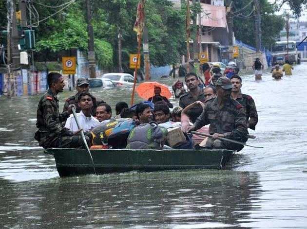 बिहार की राजधानी पटना में बारिश से हुआ यह हाल