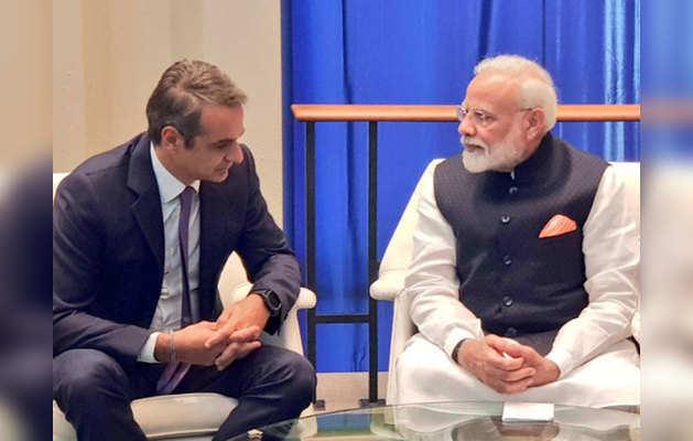 ग्रीस के प्रधानमंत्री के साथ PM मोदी