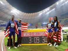 india reaches 7th in 4x400m mixed relay in iaaf world championships doha usa secures gold