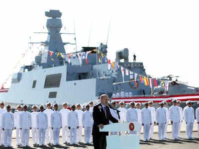 कार्यक्रम के दौरान तुर्की के राष्ट्रपति एर्दोगन