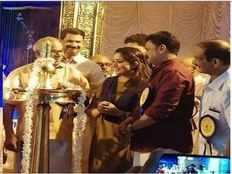 navarathri celebrations dileep kavya madhavan share stage at nedumbassery avanamcode saraswathi temple photos