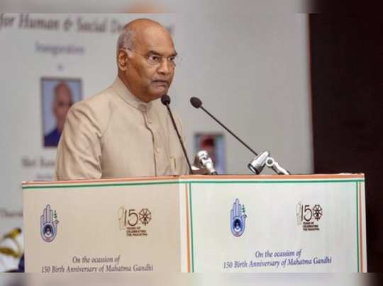 New Delhi: President Ram Nath Kovind addresses during the inauguration of a semi...