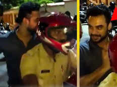 kerala police officer sunil kumar helps actor tovino to get out of traffic block to attend an event of the high court association