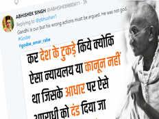 amid gandhi jayanti wishes on social media godse supporters trends godse amar rahe hashtag