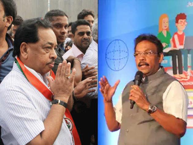 एकनाथ खडसे (बाएं) और विनोद तावड़े (दाएं) का टिकट कटा