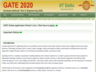 gate 2020 application form with late fee available till october 5 2019 apply now