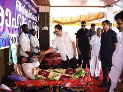 राहुल केरल में आंदोलनकारियों से मिलने आए थे