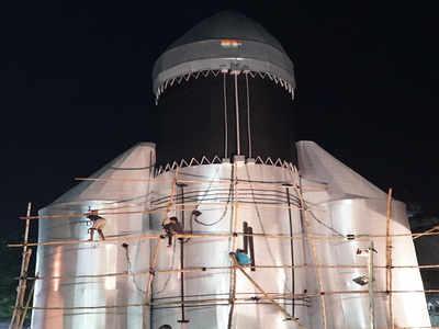 चंद्रयान-2 की थीम पर तैयार किए गए दुर्गा पूजा के पंडाल
