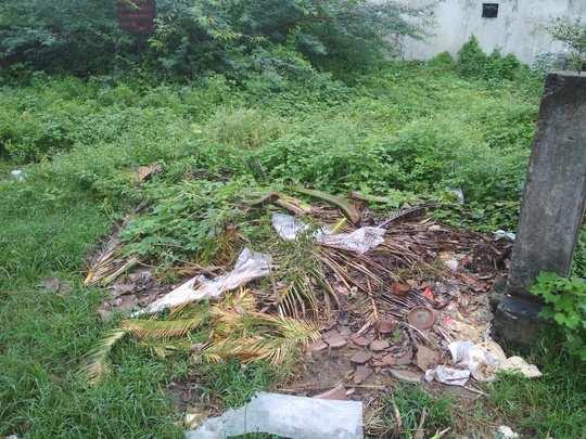 कचऱ्याचे अनियमितपणे संकलन