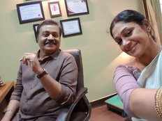 suresh gopi shares selfie with shobhana from the set of dulquer salmaan kalyani priyadarshan anoop sathyan movie