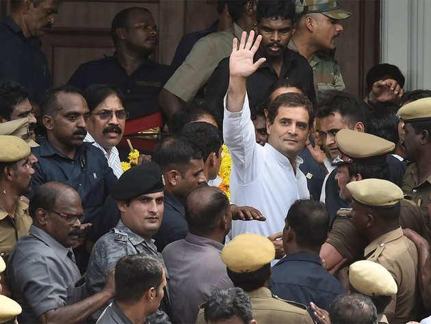 कड़ा सुरक्षा घेरे में राहुल गांधी। (फाइल फोटो)