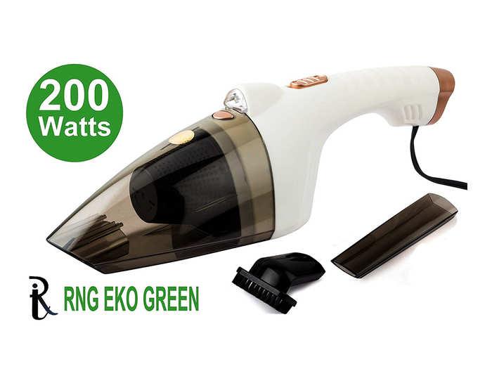 RNG EKO GREEN 200 Watt Cyclonic Power Wet Dry Car Vacuum Cleaner - White 12V