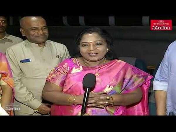 telangana governor smt tamilisai soundararajan watched sye raa movie
