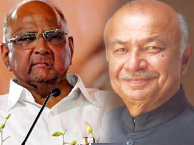 फाइल फोटो: शरद पवार और सुशील कुमार शिंदे